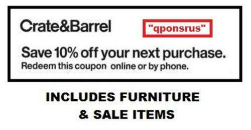 crate and barrel coupon crate and barrel 10 coupons ebay 10676