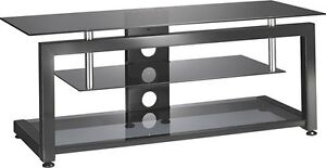 "TV Stand for Most Flat-Panel TVs Up to 55"" - Black"