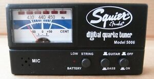 TUNER - Squire by Fender Guitar and Bass Tuner, model 5006