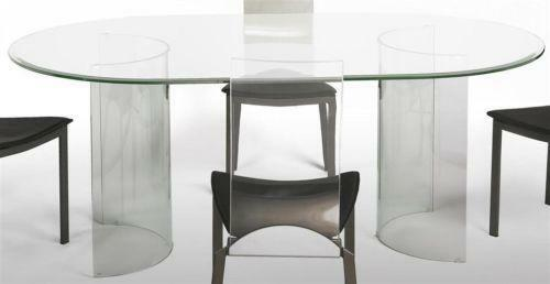Oval Glass Dining Table Ebay