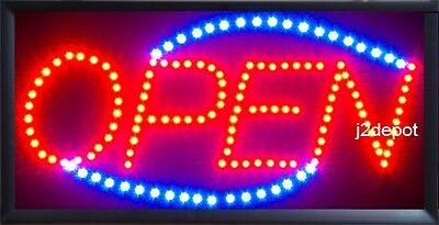 Us Seller Animated Led Neon Light Open Sign Onoff Switchchain 19x10x1