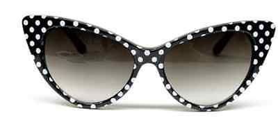 3babcfed0b39c Retro Vintage Style Polka Dot Cat Eye Sunglasses Hollywood 50s60s