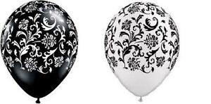 BLACK-WHITE-COMBO-damask-party-balloons-birthday-latex
