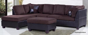CHARLIE SECTIONAL SOFA WITH OTTOMAN- brand new- 2 COLORS