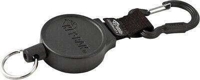 Key-bak Cordsfastener Retractable 36 Kevlar Cord. 1 58 Diameter Black Polyca