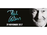 2 Tickets for Phil Collins at Manchester Arena - BLOCK A 29th Nov