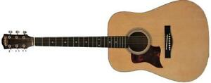 Left handed Acoustic Guitar Natural 41 inch Full Size for beginners