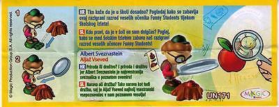 Ü-Ei-Beipackzettel (BPZ) ALBERT SVEZNASTEIN FUNNY STUDENTS KROATIEN - SLOWENIEN