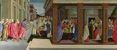 Sandro Botticelli Four Scenes From The Early Life Of Saint Zenobius A4 Print
