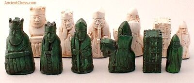Rook Chess (ISLE OF LEWIS CHESS MEN, PLAYERS' SET, WITH CASTLE ROOKS K=3.5