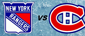 CANADIENS VS RANGERS REDS THUR APRIL20th(2x104W-2x119G)