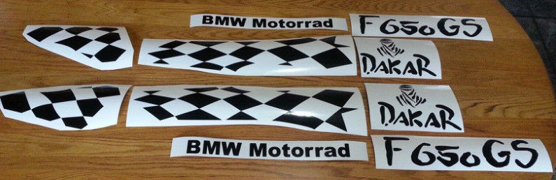 Bmw f 650 gs dakar decals graphics vinyl sticker kits