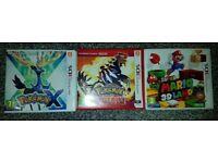 3DS Games: Pokemon X, Pokemon Omega Ruby, Super Mario 3D Land