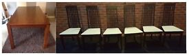Large Dining Table (200cm) & 6 Calligaris Chairs FREE DELIVERY (03945)