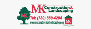 MK Construction is hiring the experienced landscapers