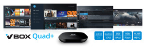 VboxQuad+  AndroidTV 4K / quicksupport included/inclus pour IPTV