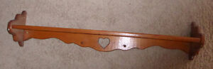 2 Wooden wall-mounted shelves with pegs $ 5 ea Kitchener / Waterloo Kitchener Area image 2