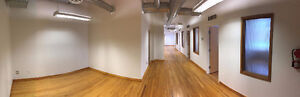 2nd Floor Brick and Beam Office Space with Large Windows
