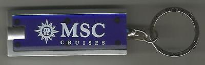 Msc Cruises     Key Ring With Logo    Led Light