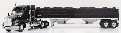 1 64 Dcp Kenworth T680 52  Mid Roof  Blk  W  Wilson Grain Trl