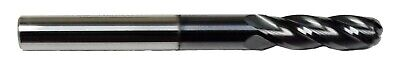 14 4 Flute Long Ball Nose Carbide End Mill - Tialn Coated