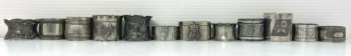 Victorian NAPKIN RING Lot 12 Silverplate Silver Napkin Holders Vintage Antique