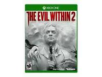 The evil within 2 for x box one. Mint condition.