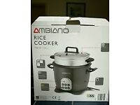 new and boxed rice cooker