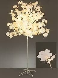 2.5m White Leafed LED Tree Mains Powered 320 White LED's Stunning Feature 10m Lead Cable