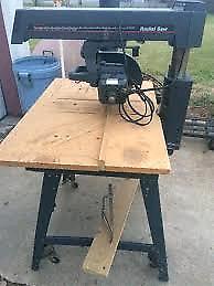 10 inch craftsman radial arm saw, table saw