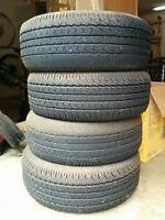 (4) 215 65 16 TIRES -$60