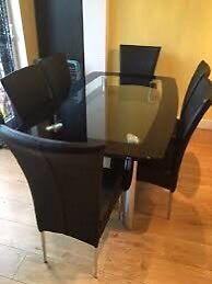 Harveys Dining Table and 6 Chairs