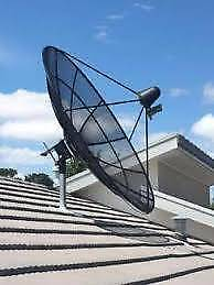 Chinese TV Satellite Dish and receiver decoder box
