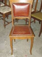 OLD Vintage Chair - rivets/leather - REAL WOOD JUST $10