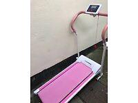Treadmill motorised pink