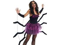 BLACK WIDOW SPIDER FANCY DRESS SIZE L BY FUN SHACK GREAT FOR PARTY / HEN DO OR HALLOWEEN