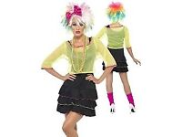 80s POP TART FANCY DRESS OUTFIT WITH WIG SIZE 12/14 PARTY OR HEN DO