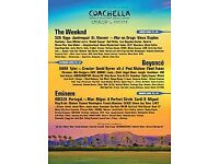 Two GA tickets for Coachella weekend 2 ft Beyonce, Eminem, The Weeknd