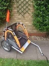 Halfords kids bicycle trailer single child or double