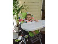 girls folding highchair and chicco multi position