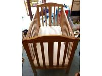 Mothercare dropside cot bed with mattress. Delivery is available