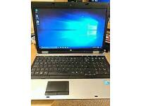 HP ProBook laptop, 4GB DDR3 RAM, 15.6 inch LED Screen, Web Cam, Photoshop, Office, Win 10