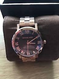 67cdbed1c3c6 BN ladies MICHAEL KORS MK3585 Norie Black Dial Rose Gold Tone Ladies Wrist  Watch