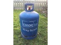 15kg half full calor gas butane bottle blue