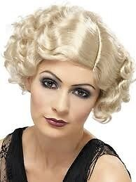 ROARING 20s GREAT GATSBY BLONDE FANCY DRESS WIG HAVE THE OUTFIT FOR SALE