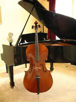 Piano, music theory lessons and beginner cello lessons