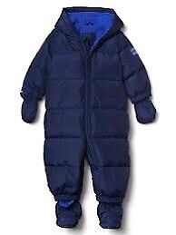 ColdControl DOWN Baby Snowsuit Navy Stars 12-18 months