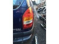 vauxhall zafira mk1 tailgate/boot in blue 1999-2005 used