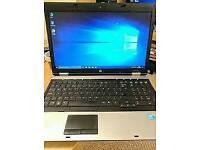 HP ProBook laptop, 4GB DDR3 RAM, 15.6 inch LED Screen, Web Cam, Photoshop, Office, Win 10