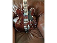 2010 Hofner CT Verythin Limited Special Edition in Walnut with Bigsby